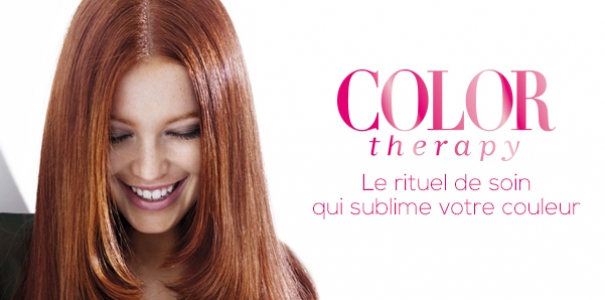 Coloration blond dore sur roux